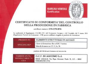Certificazione EN 1090-2:2008 + A1:2011